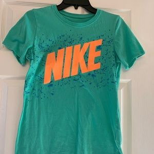 Teal Nike Athletic Fit Shirt